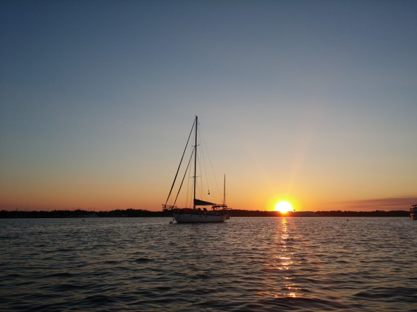 S/V Perect Partner at sunset
